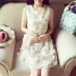 お姫様気分を堪能!ホワイトxお花のガーリーなワンピース♡