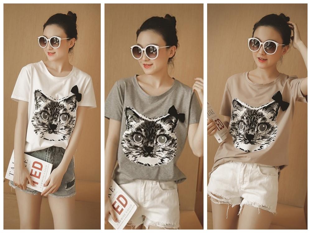 猫柄Tシャツ