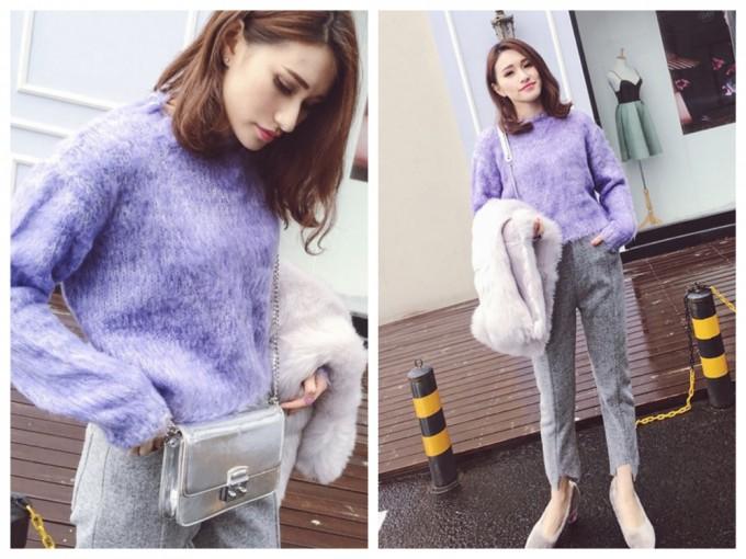 紫色コーデ