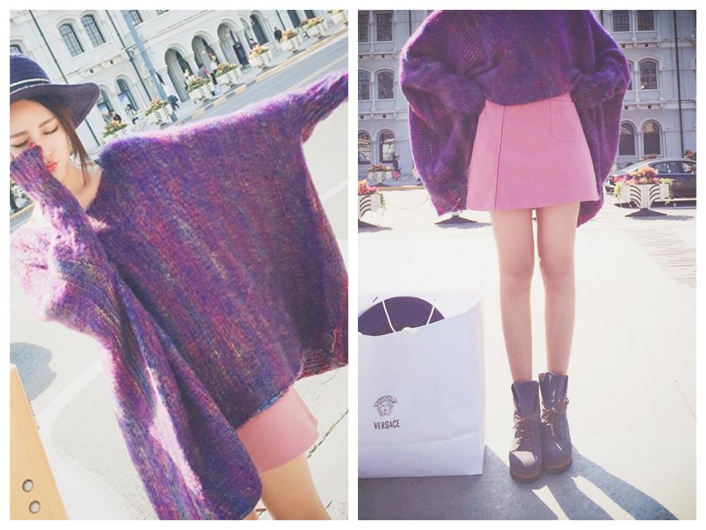 紫Xピンク