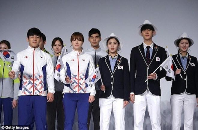 リオ五輪韓国ユニフォーム