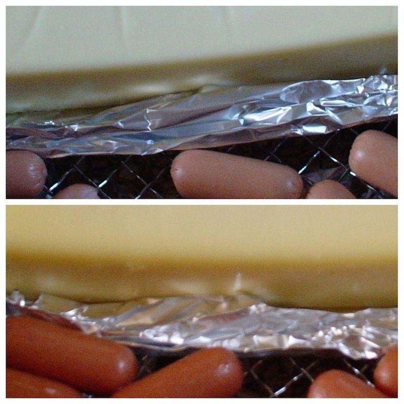 燻製チーズとソーセージ