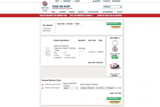 TEAM GB SHOP