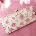 桜柄のお財布やバッグを探しているならAETHER(エーテル)の桜コレクションをチェックしてみて!
