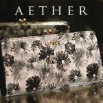 AETHER(エーテル)からシックなモノトーンの花柄長財布が仲間入り