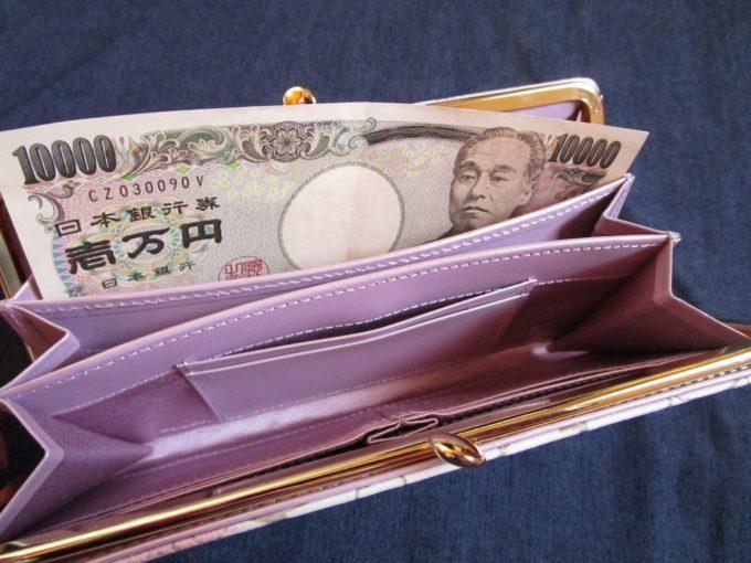 エーテル桜柄長財布